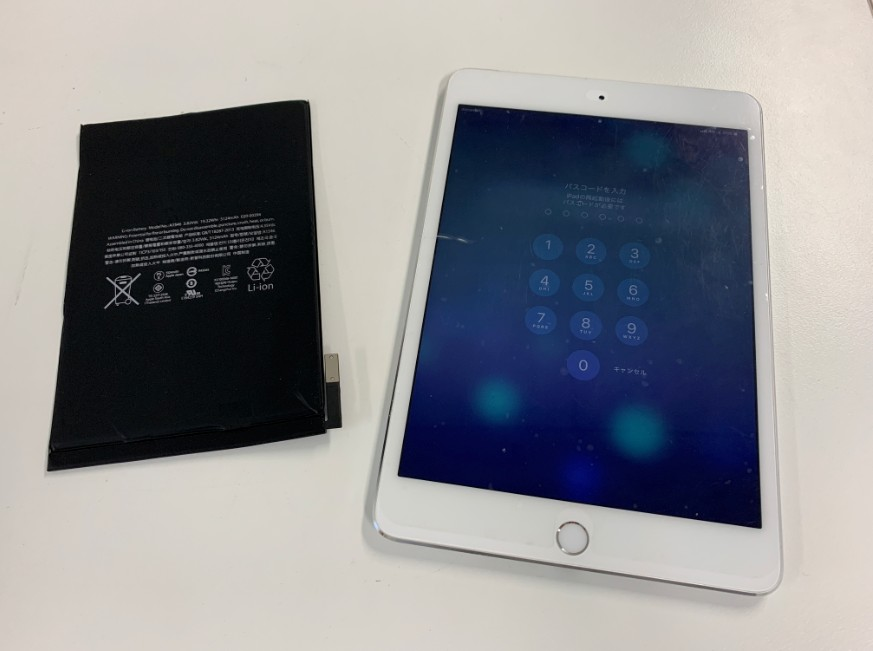 バッテリーを新品に交換したiPad mini4