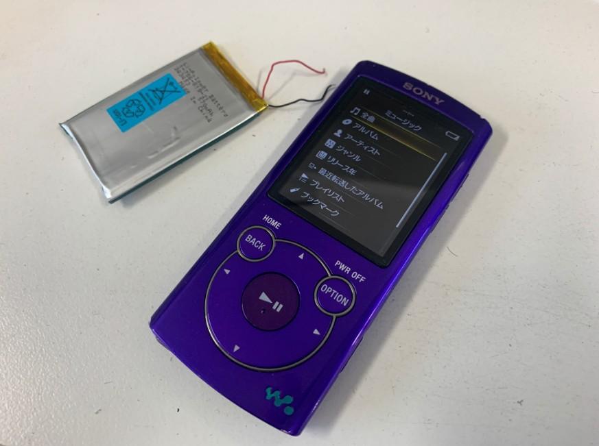 電池パックを交換したNW-S764