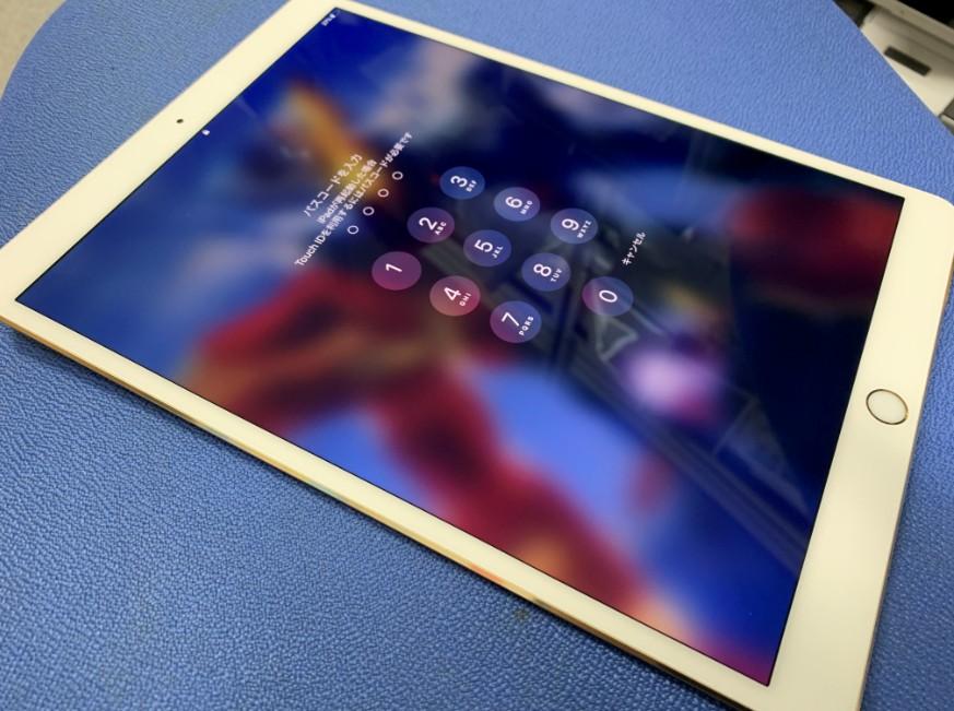液晶画面交換修理後のiPad Pro 10.5