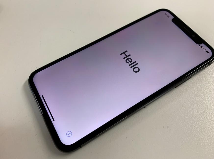 画面交換修理後のiPhone XS