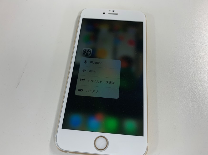 液晶画面交換修理後のiPhone 6s Plus