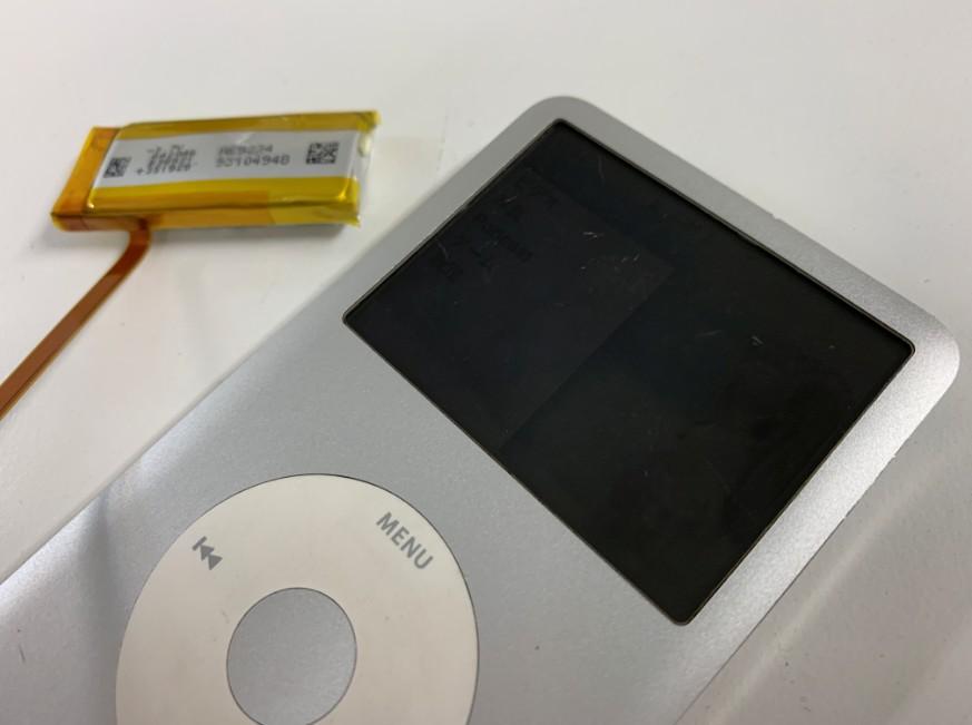 電池パック交換修理後のiPod Classic