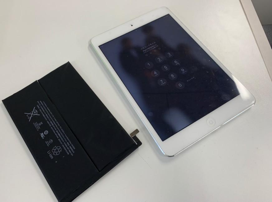バッテリー交換修理後のiPad mini2