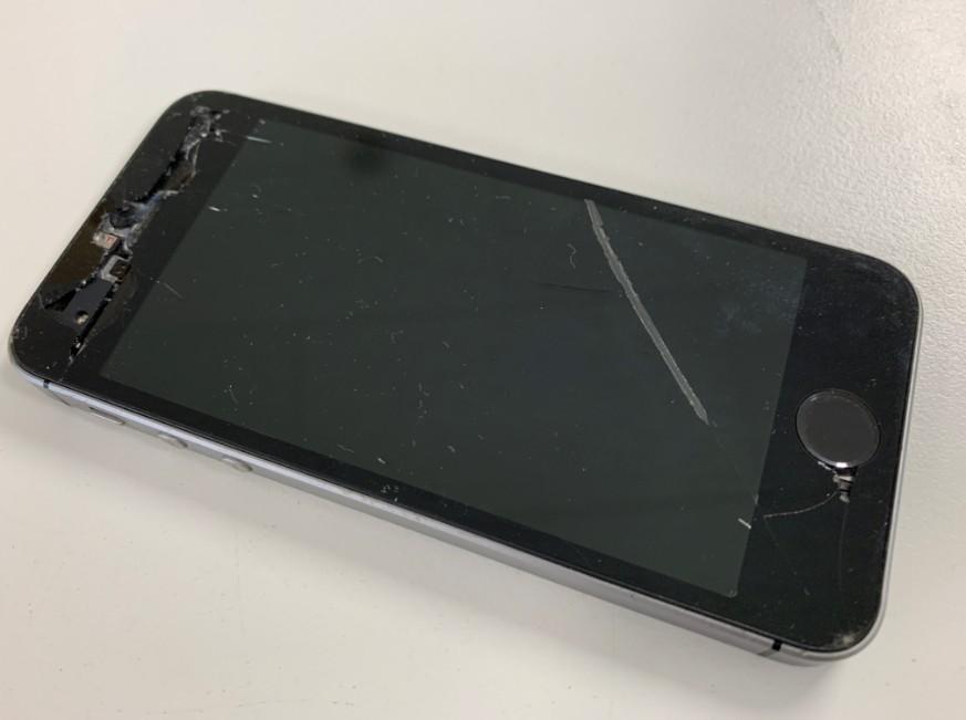 液晶画面が割れて充電持ちが悪くホームボタンを押しても反応しないiPhone5s