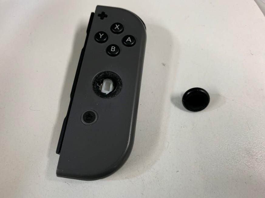 ジョイコンのスティックの先端が取れたNintendo Switch