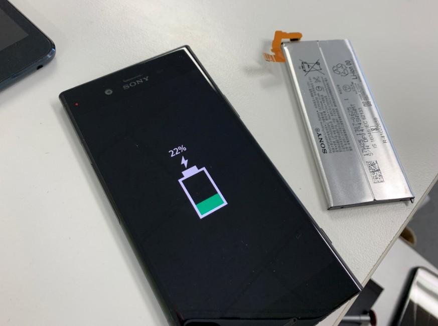バッテリー交換で電源が入るようになったXperia XZ1(SO-01K)
