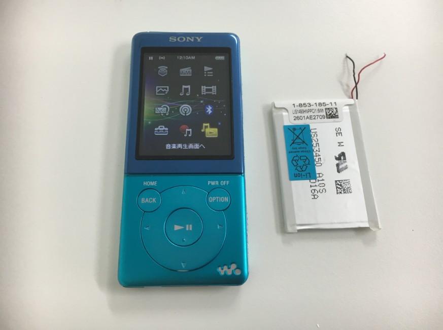 バッテリーを新品に交換したNW-S774