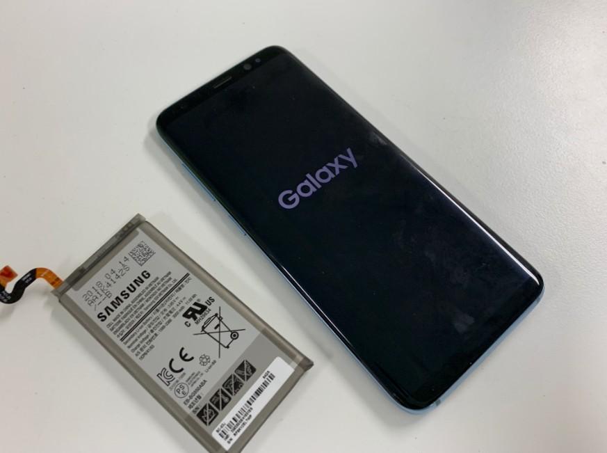 バッテリー交換修理後のGalaxy S8(SC-02J)