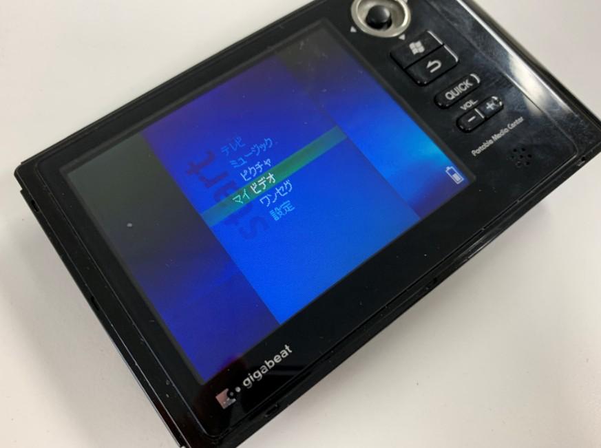 バッテリー交換で電源が入るようになったgigabeat(V30E)