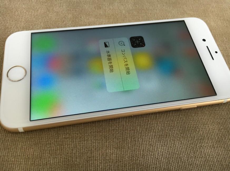 液晶画面交換修理後のiPhone6s