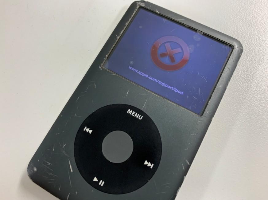 画面に赤いバツマークが出て音楽が聴けないiPod Classic