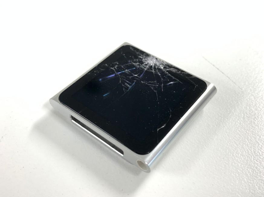 表面ガラスが割れてしまったiPod nano第6世代