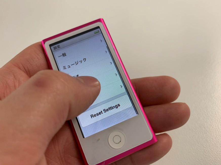 画面交換修理後のタッチ操作が出来るiPod nano7
