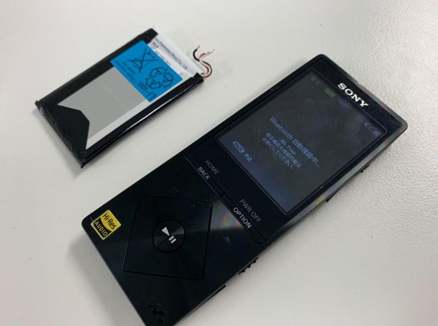 バッテリーを新品に交換したNW-A17