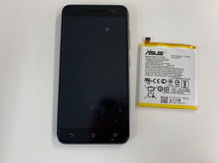 電池パックを交換修理したZenfone3(ZE520KL)