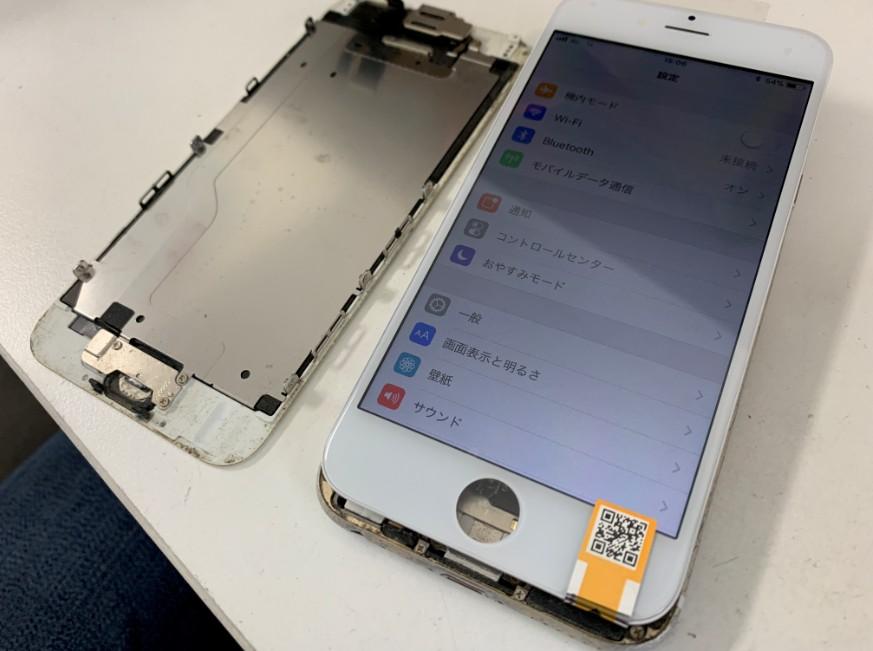 液晶画面交換修理で電源が入るようになったiPhone6