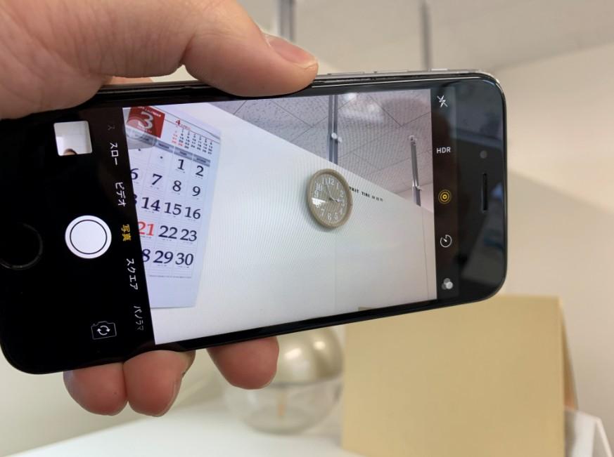 カメラパーツ交換修理後のiPhone6s