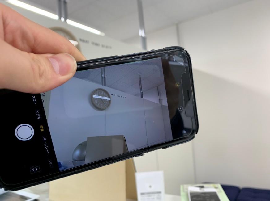 カメラパーツ交換修理後のiPhone XR