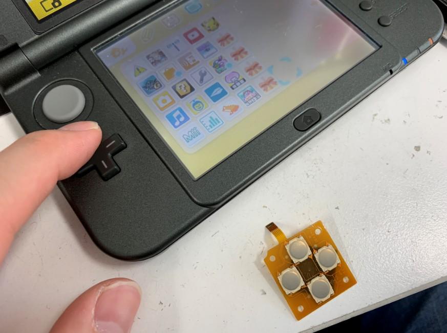 十字キーボタンを交換修理したNew 3DS LL