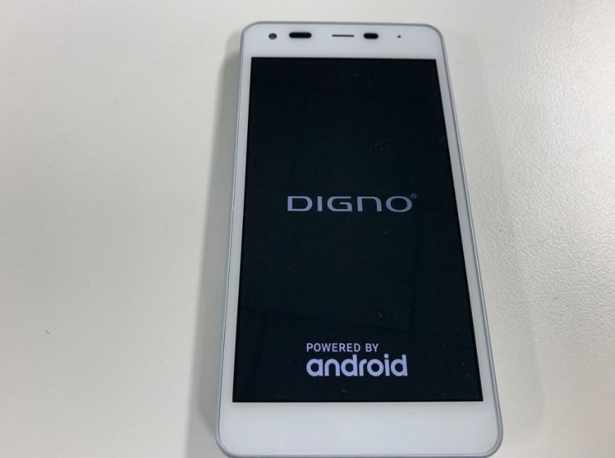 液晶画面交換修理後の表示されるようになったDIGNO G(603KC)