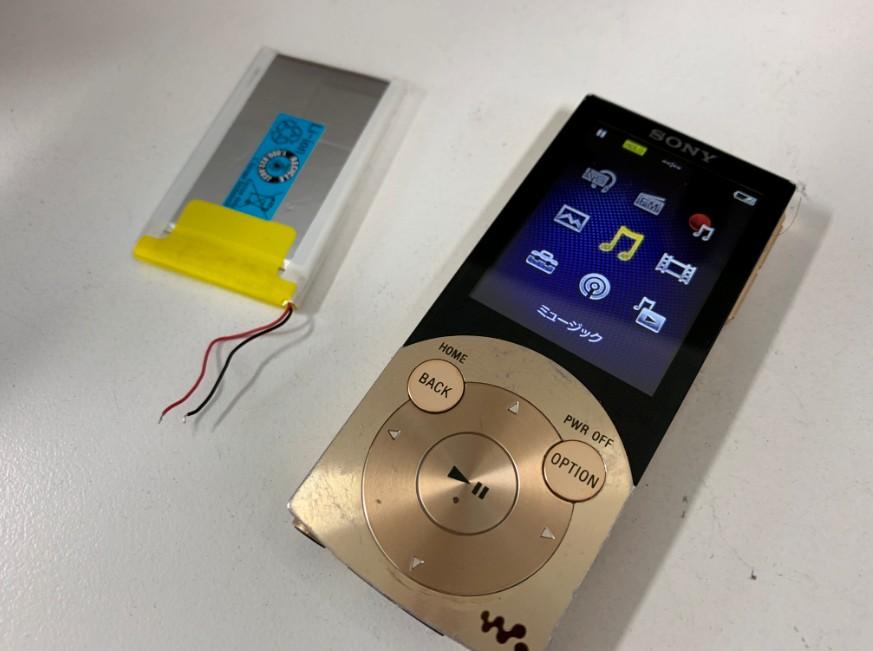 バッテリーを新品に交換したNW-S746