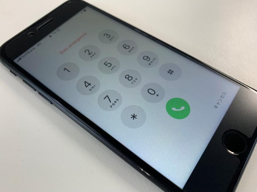 液晶画面交換修理後のiPhone7