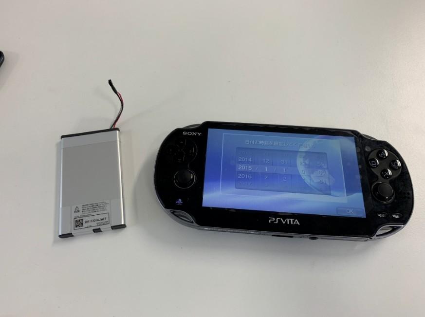 バッテリーが劣化してすぐに充電が無くなるPSVita(PCH1100)