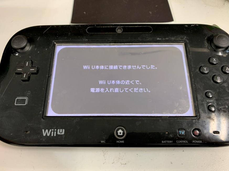 液晶画面交換修理後のWiiUゲームパッド