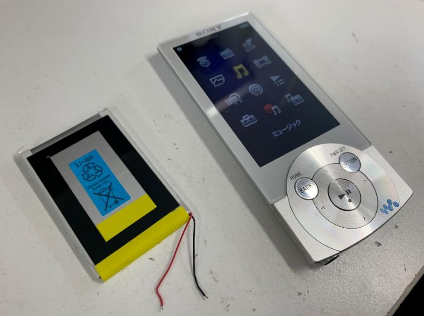 電池パックを新品に交換したNW-A857
