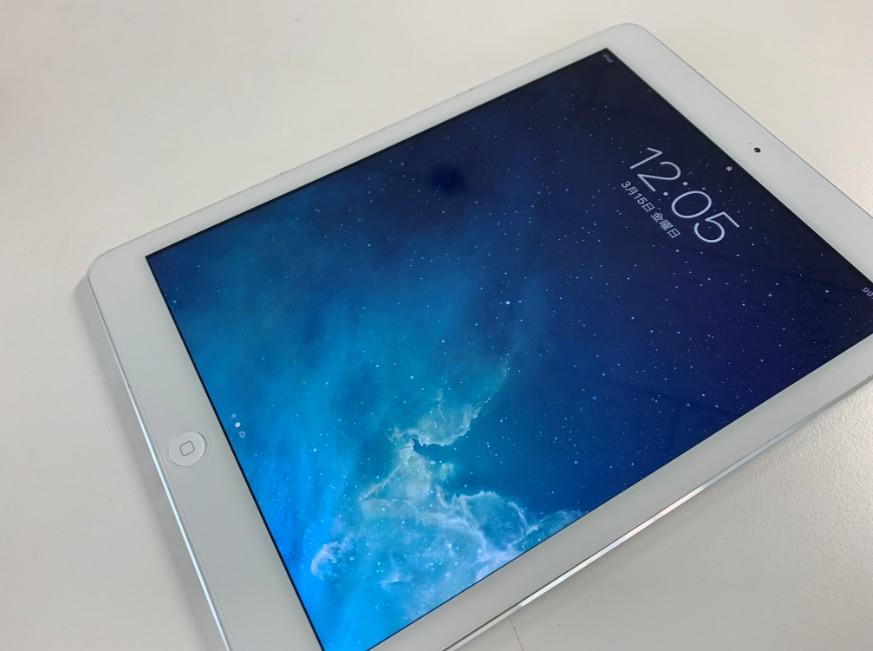 表面ガラスを交換したiPad Air