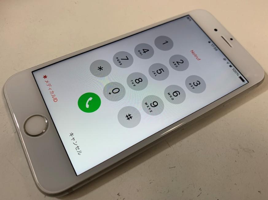 液晶画面交換修理後のiPhone6