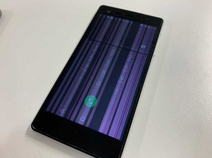 液晶画面が損傷したVAIO PHONE A(VPA0511S)