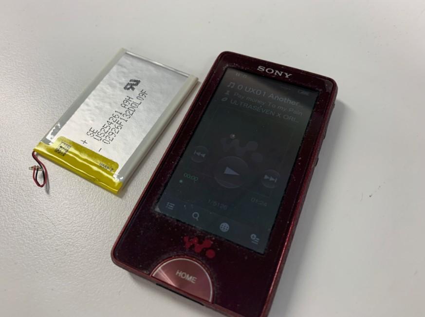 バッテリーを新品に交換したNW-X1050