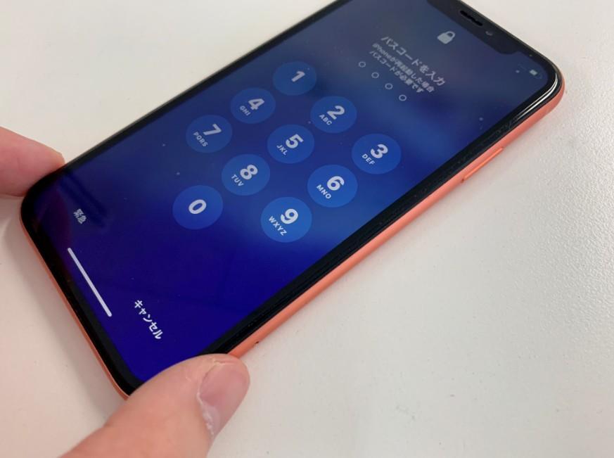 メンテナンスで電源が入るようになったiPhone XR
