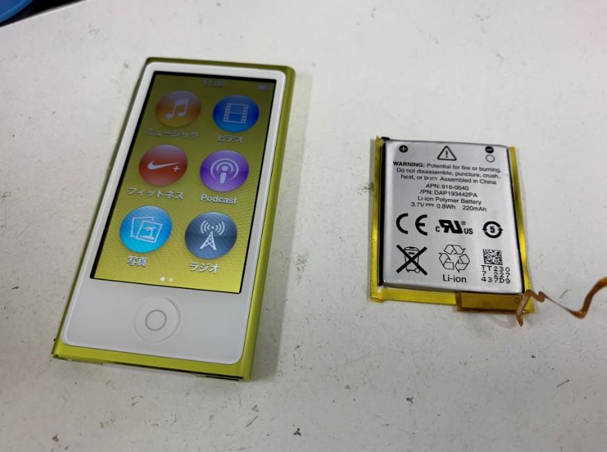 バッテリーを新品に交換したiPod nano7