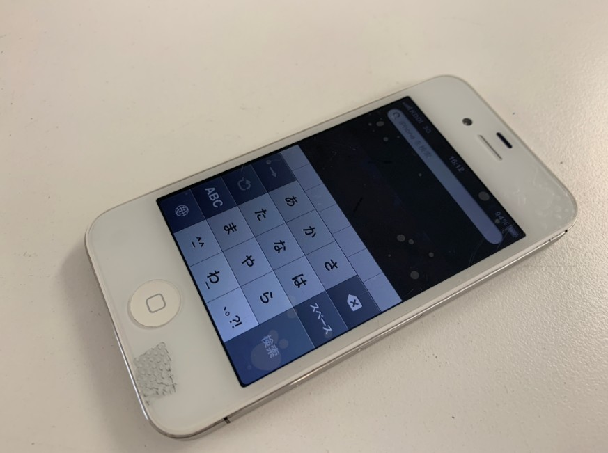 液晶画面交換修理後のiPhone4