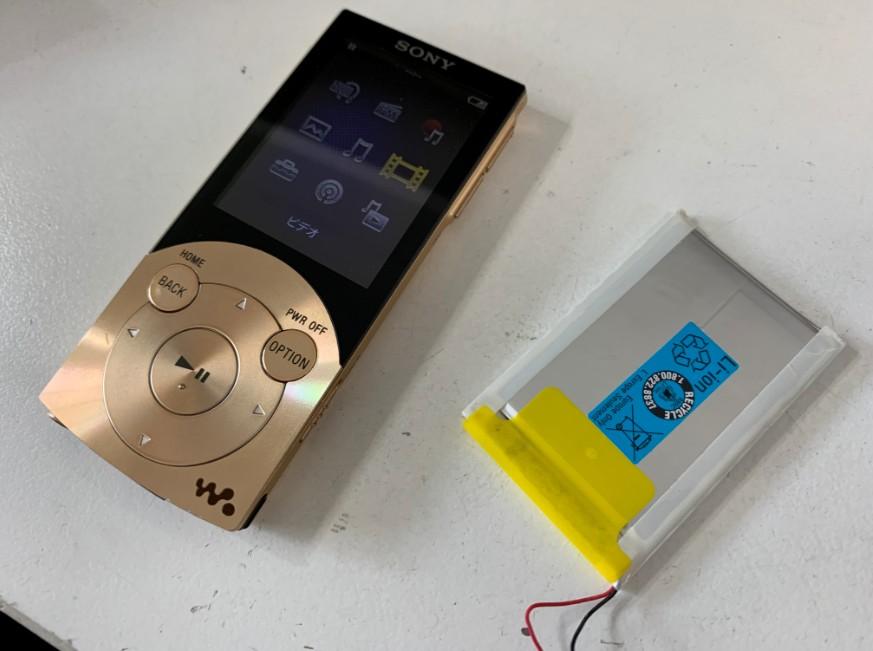 内蔵バッテリーを新品に交換したNW-S744