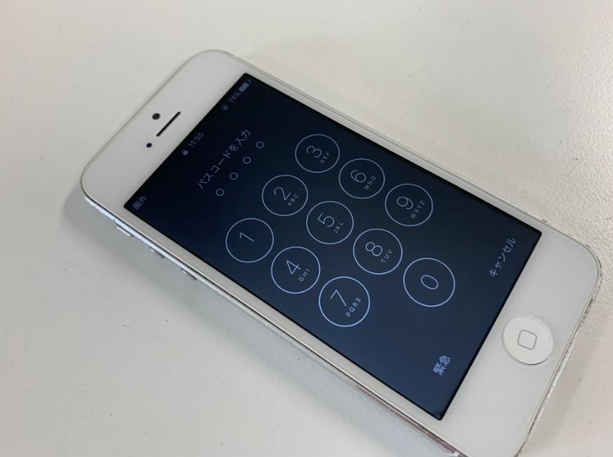 液晶画面交換修理後のiPhone5
