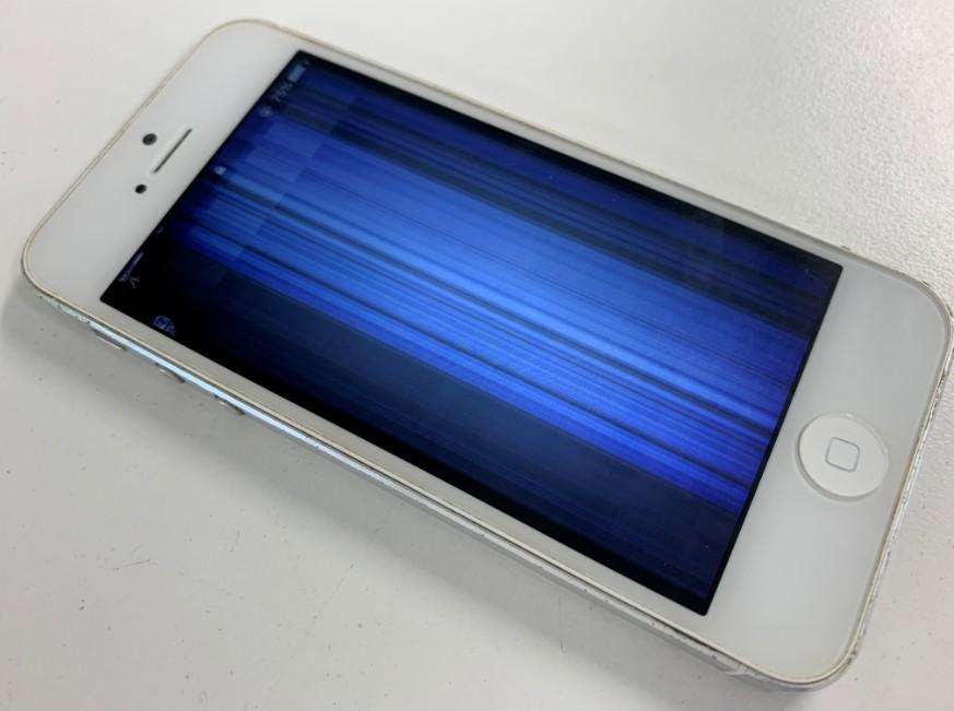 液晶画面が破損したiPhone5