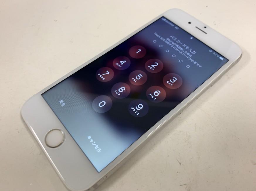 液晶画面交換修理後の操作出来るようになったiPhone6s