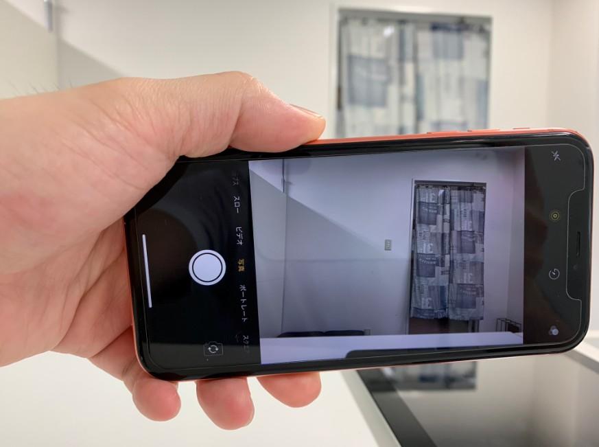 カメラがキレイに映るようになったiPhone XR