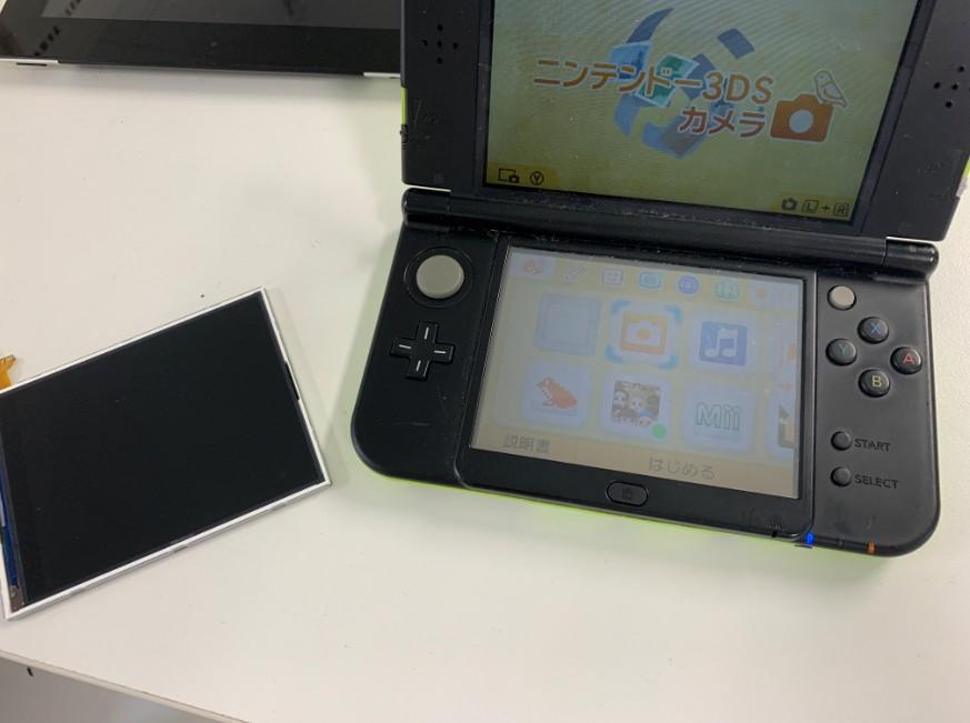 下液晶画面を交換して症状が改善したNew 3DS LL