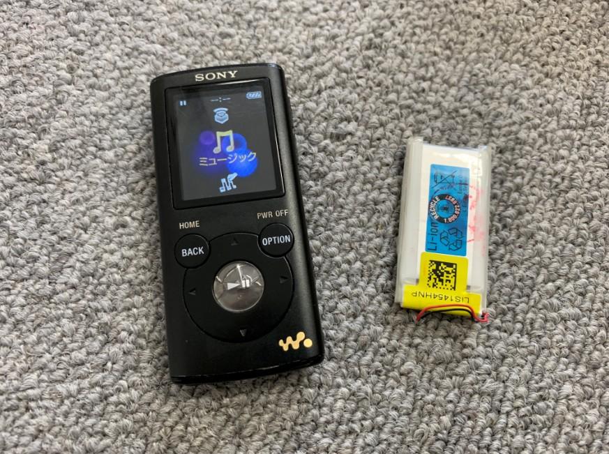 充電池を交換して充電持ちが改善したNW-E052