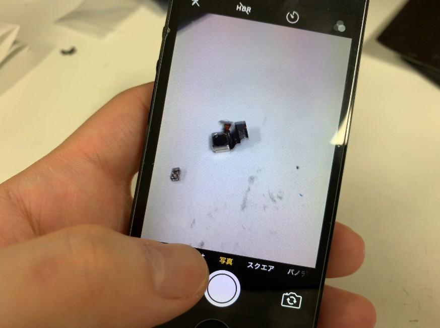 外側カメラパーツ交換修理後の撮影出来るようになったiPhone5