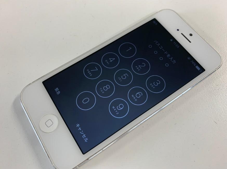 液晶画面交換修理後の操作出来るように改善したiPhone5