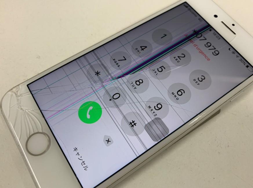 液漏れしてゴーストタッチしているiPhone7