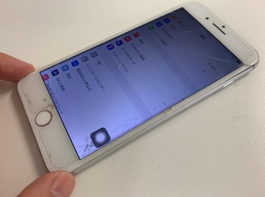 基板修理後の操作出来るようになったiPhone8Plus