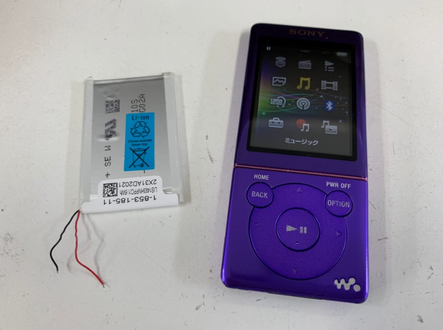 バッテリーを新品に交換したウォークマンNW-S774