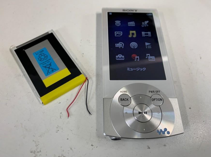 充電池を交換して電池持ちが大幅に向上したNW-A857