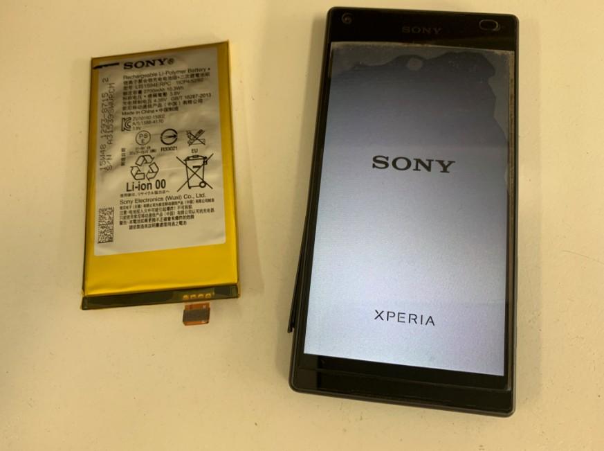 内蔵バッテリー交換修理後の充電持ちが改善したエクスペリアZ5コンパクト(SO-02H)